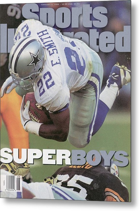 Emmitt Smith Metal Print featuring the photograph Dallas Cowboys Emmitt Smith, Super Bowl Xxx Sports Illustrated Cover by Sports Illustrated