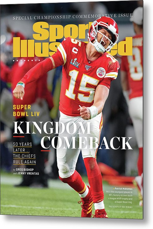 Miami Gardens Metal Print featuring the photograph Kingdom Comeback Kansas City Chiefs, Super Bowl Liv Sports Illustrated Cover by Sports Illustrated