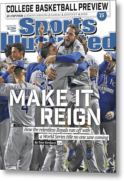 Magazine Cover Metal Print featuring the photograph Make It Reign How The Resilient Royals Ran Off With A World Sports Illustrated Cover by Sports Illustrated