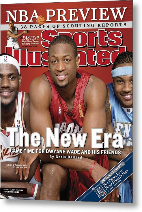 Magazine Cover Metal Print featuring the photograph Miami Heat Dwyane Wade Sports Illustrated Cover by Sports Illustrated