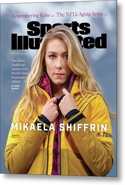 Skiing Metal Print featuring the photograph Mikaela Shiffrin, Sports Illustrated, March 2020 Sports Illustrated Cover by Sports Illustrated