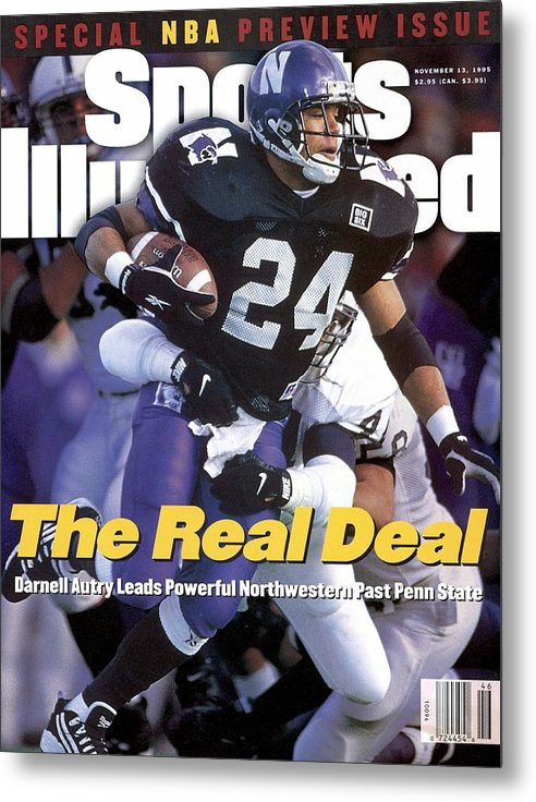 Magazine Cover Metal Print featuring the photograph Northwestern University Darnell Autry Sports Illustrated Cover by Sports Illustrated