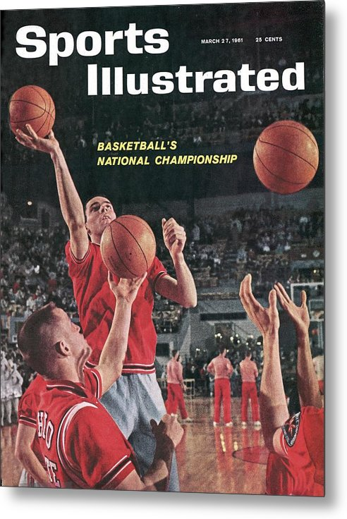 Magazine Cover Metal Print featuring the photograph Ohio State Jerry Lucas... Sports Illustrated Cover by Sports Illustrated