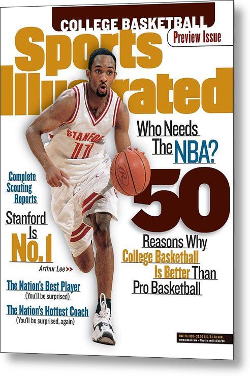 Playoffs Metal Print featuring the photograph Stanford University Arthur Lee, 1998-99 College Basketball Sports Illustrated Cover by Sports Illustrated