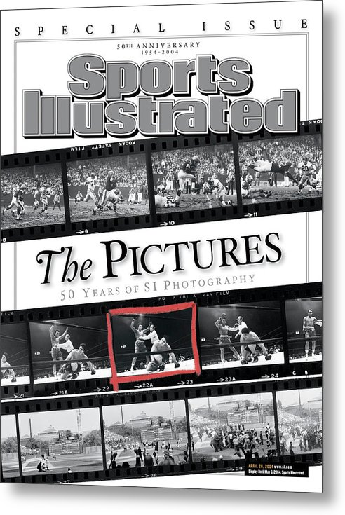 Magazine Cover Metal Print featuring the photograph The Pictures 50 Years Of Si Photography Sports Illustrated Cover by Sports Illustrated