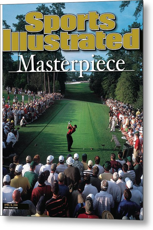 Magazine Cover Metal Print featuring the photograph Tiger Woods, 2001 Masters Sports Illustrated Cover by Sports Illustrated