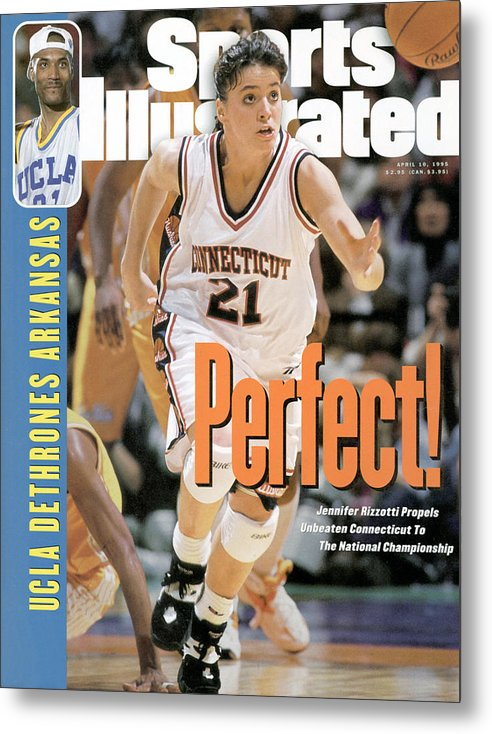 Magazine Cover Metal Print featuring the photograph University Of Connecticut Jennifer Rizzotti, 1995 Ncaa Sports Illustrated Cover by Sports Illustrated