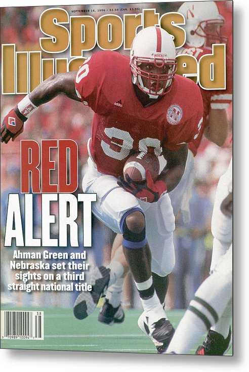 Michigan State University Metal Print featuring the photograph University Of Nebraska Ahman Green Sports Illustrated Cover by Sports Illustrated