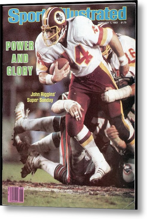 1980-1989 Metal Print featuring the photograph Washington Redskins John Riggins, Super Bowl Xvii Sports Illustrated Cover by Sports Illustrated