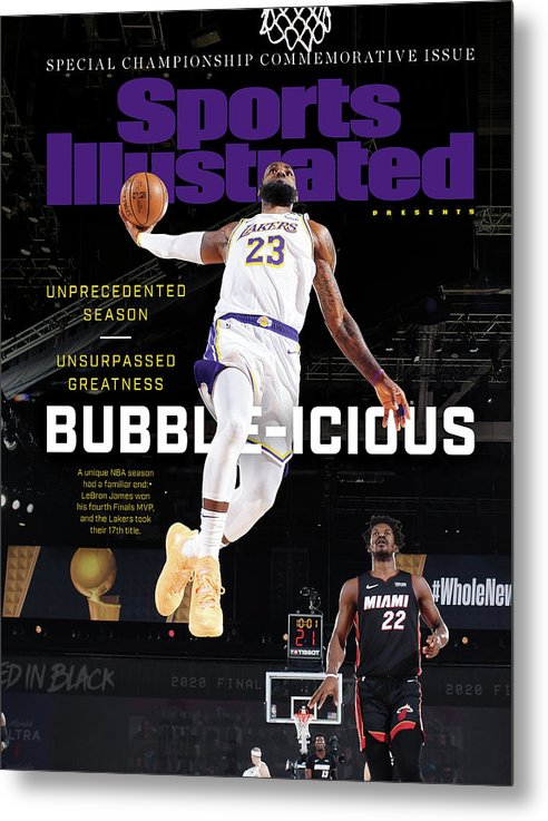 Nba Metal Print featuring the photograph Bubble-icious Los Angeles Lakers NBA Championship Sports Illustrated Cover by Sports Illustrated