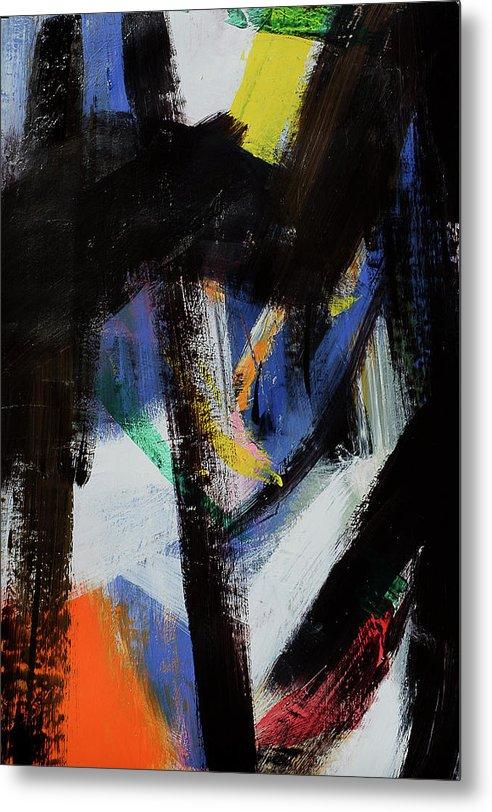 Cherinow Metal Print featuring the painting Loving Franz Kline by Cheryl Johnson ARTIST