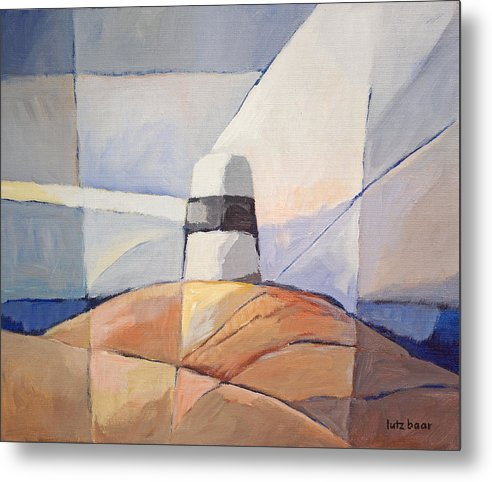 Coast Metal Print featuring the painting Beacon Seascape by Lutz Baar