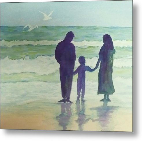 Ocean Metal Print featuring the painting Focus On The Wonder by Deva Claridge