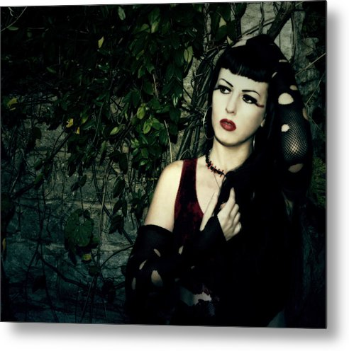 Ivy Metal Print featuring the photograph Ivy by Cinder Thorne