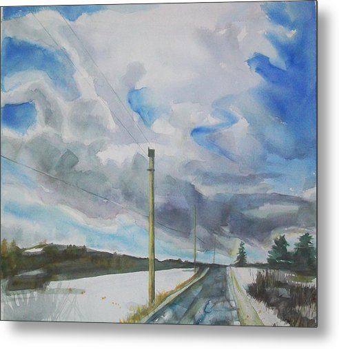 Maine Landscape Metal Print featuring the painting Carry On by Grace Keown