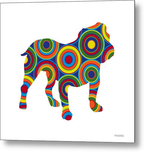 Animals Metal Print featuring the digital art Bulldog by Ron Magnes
