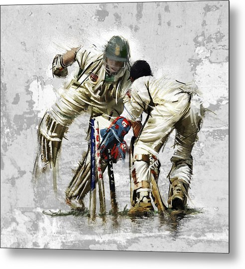 English Metal Print featuring the painting Cricket1 by James Robinson