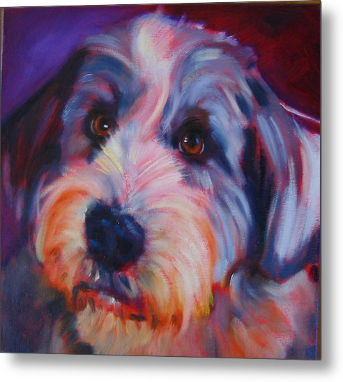 Old English Sheep Dog Metal Print featuring the painting Willie by Kaytee Esser
