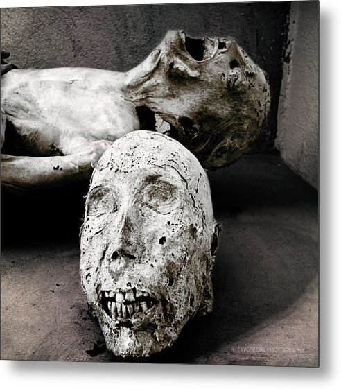Skull Metal Print featuring the photograph Head Body by Andy Frasheski