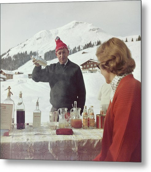 Mixing Metal Print featuring the photograph Lech Ice Bar by Slim Aarons