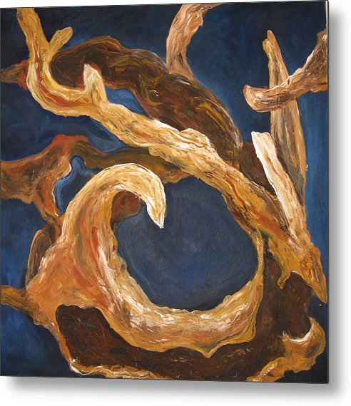 Abstract Nature Metal Print featuring the painting Driftwood by Ani Magai