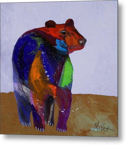 Black Bear Metal Print featuring the painting Big Bear by Tracy Miller