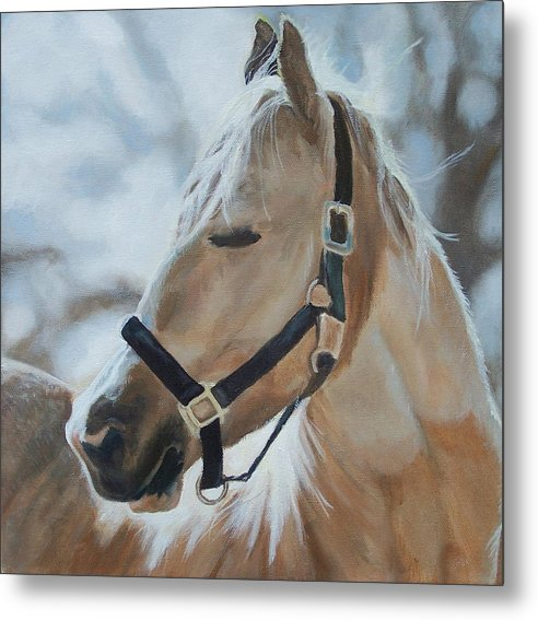 Horse Metal Print featuring the painting Gabriel by Audrie Sumner