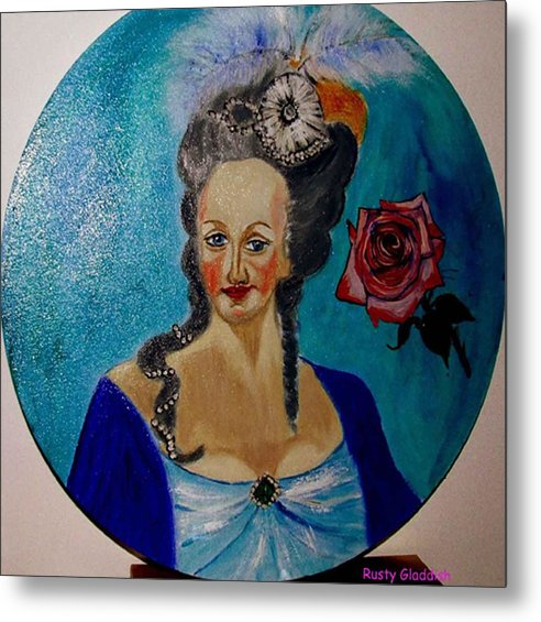 Guillotine Metal Print featuring the painting Marie Antoinette by Rusty Gladdish