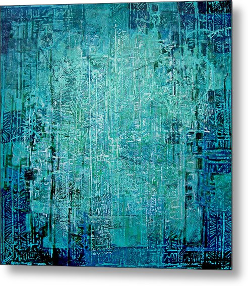 Abstract Metal Print featuring the painting Secret Entry by Dale Witherow