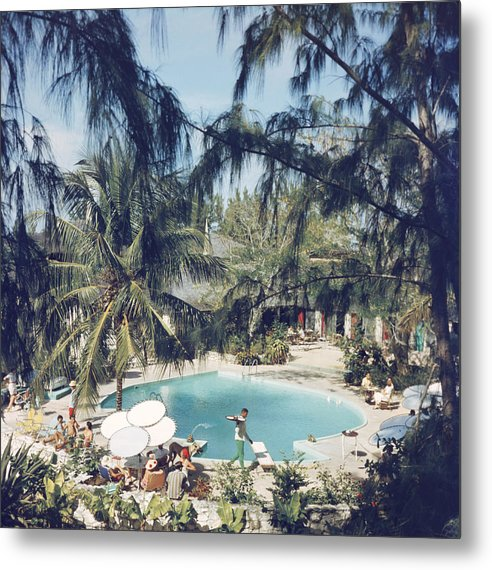 People Metal Print featuring the photograph French Leave Hotel by Slim Aarons