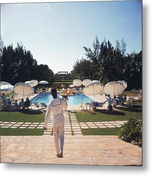 People Metal Print featuring the photograph Ocean Club On Paradise Island by Slim Aarons