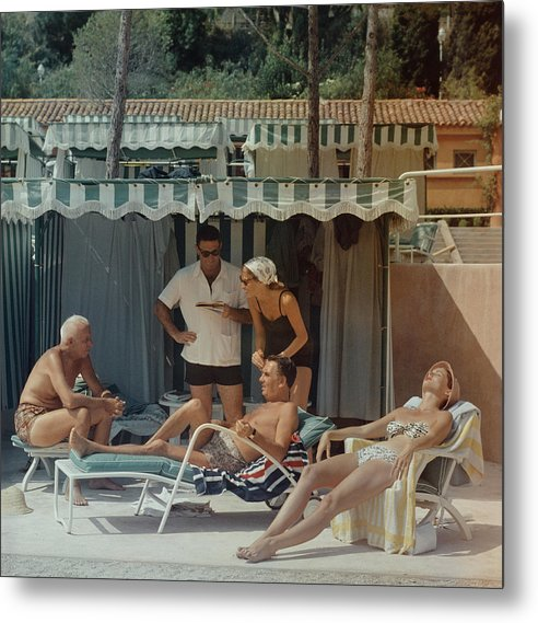1950-1959 Metal Print featuring the photograph Summer In Monaco by Slim Aarons