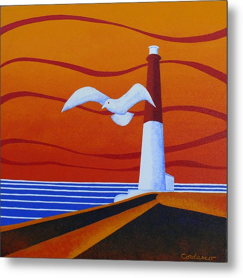 Lighthouse Metal Print featuring the painting Our Ol' Barney by James Cordasco