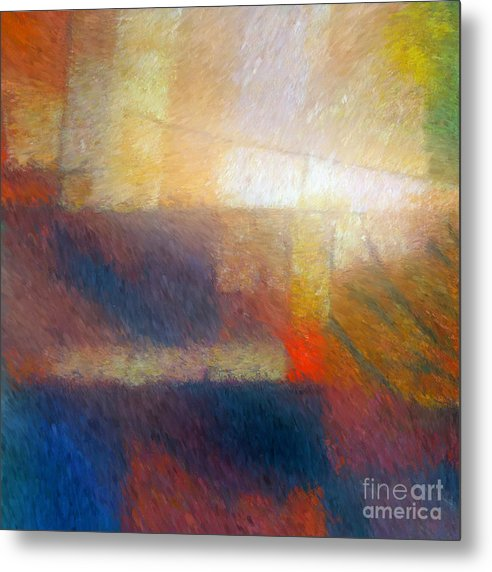 Abstract Metal Print featuring the painting Breaking Light by Lutz Baar
