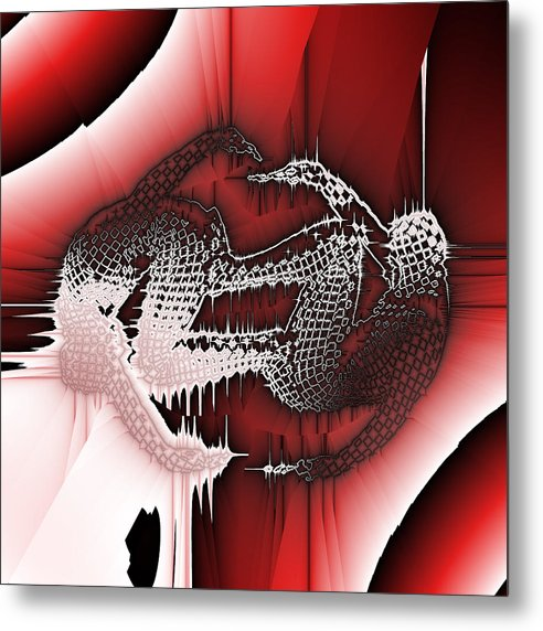 Abstract Metal Print featuring the digital art Capoeira 9 by Jack Bowman