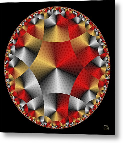 Abstract Metal Print featuring the digital art Archangel Michael's Shield by Manny Lorenzo