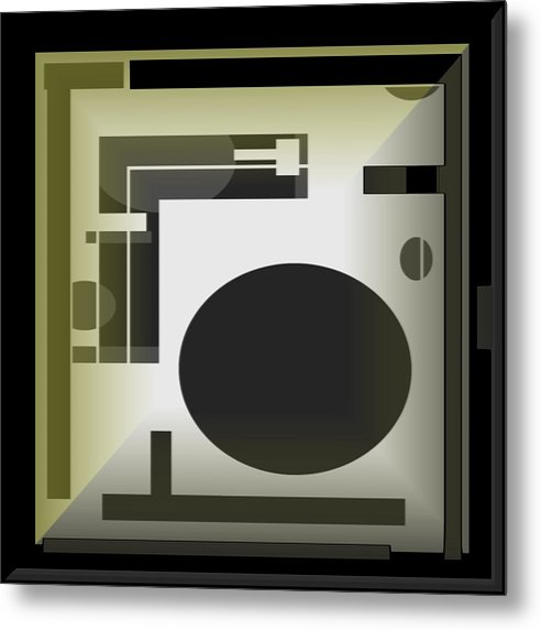 Abstract Metal Print featuring the digital art Abstract 10 by Jacqueline Mason