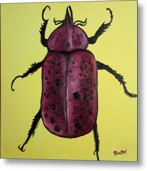 Beetles Metal Print featuring the painting Beedles - Ringo by Scott Plaster