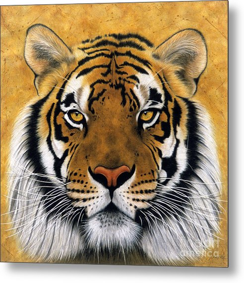 Lawrence Supino Metal Print featuring the painting Bengali II by Lawrence Supino