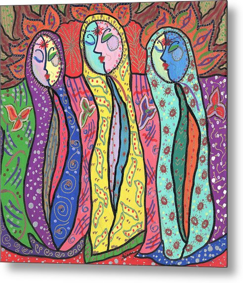Colorful Metal Print featuring the painting Gypsies by Sharon Nishihara