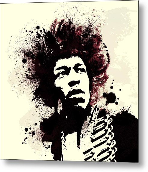 Jimi Hendrix Metal Print featuring the painting Jimi by Laurence Adamson