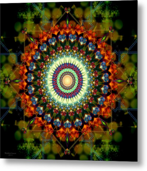 Mandala Metal Print featuring the digital art Mandala Of Loves Journey by Stephen Lucas