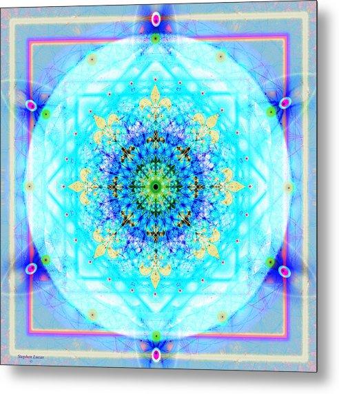 Mandala Metal Print featuring the digital art Mandala Of Womans Spiritual Genesis by Stephen Lucas