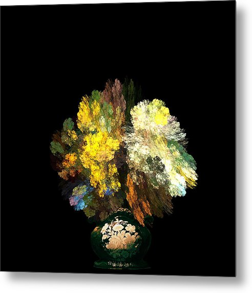 Still Metal Print featuring the photograph Still Life With Flowers by Viktor Savchenko