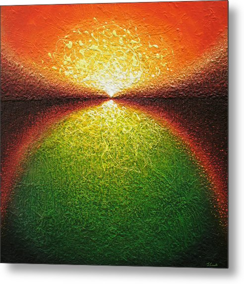 Abstract Art Metal Print featuring the painting Transfiguration by Jaison Cianelli