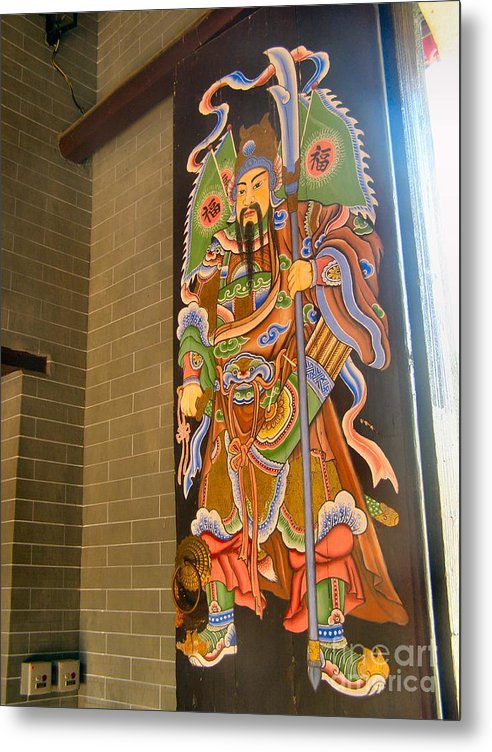 Door Metal Print featuring the photograph Old Chinese Village Door Series Twelve by Kathy Daxon