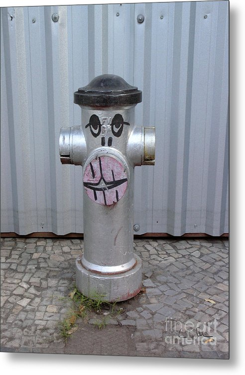 Hydrant Metal Print featuring the photograph Sexy Lips by Carlos Alvim