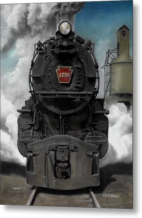 Trains Metal Print featuring the painting Smoke And Steam by David Mittner