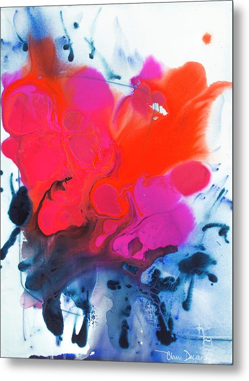 Abstract Metal Print featuring the painting Voice by Claire Desjardins