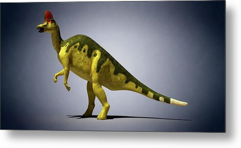 Artwork Metal Print featuring the photograph Dinosaur by Sciepro
